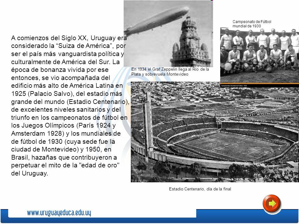 En 1934 el Graf Zeppelin llega al Río de la Plata y sobrevuela Montevideo Estadio Centenario, día de la final Campeonato de Fútbol mundial de 1930 A c