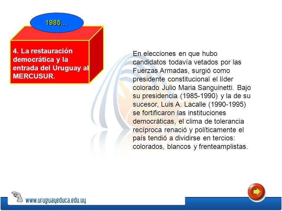 En elecciones en que hubo candidatos todavía vetados por las Fuerzas Armadas, surgió como presidente constitucional el líder colorado Julio Maria Sang