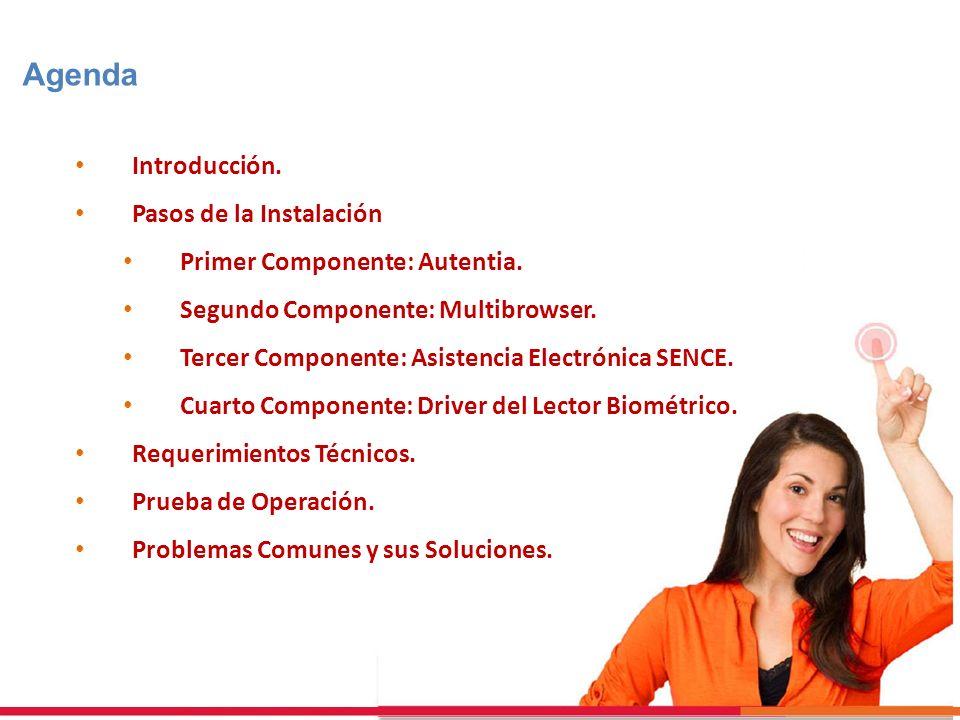 Agenda Introducción. Pasos de la Instalación Primer Componente: Autentia. Segundo Componente: Multibrowser. Tercer Componente: Asistencia Electrónica