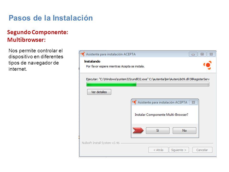 Segundo Componente: Multibrowser: Nos permite controlar el dispositivo en diferentes tipos de navegador de internet.