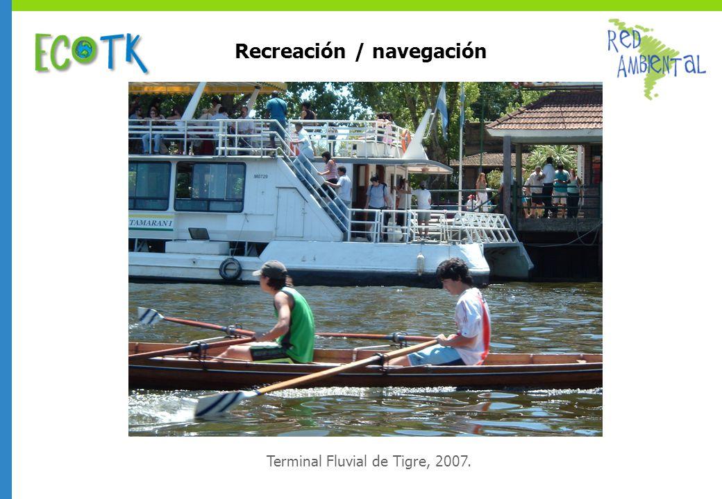 Recreación / navegación Terminal Fluvial de Tigre, 2007.
