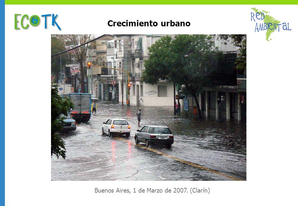 Crecimiento urbano Buenos Aires, 1 de Marzo de 2007. (Clarín)
