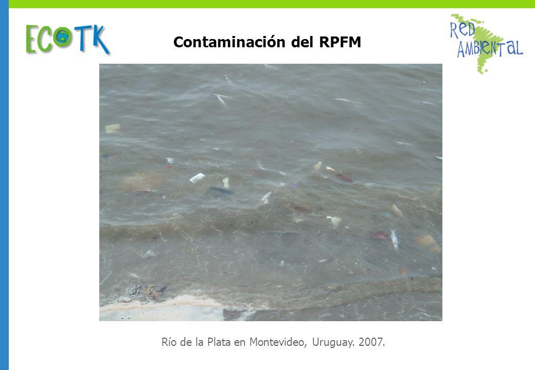 Contaminación del RPFM Río de la Plata en Montevideo, Uruguay. 2007.