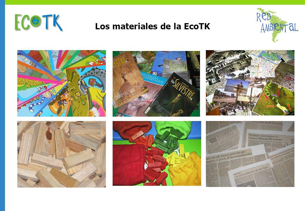 Los materiales de la EcoTK