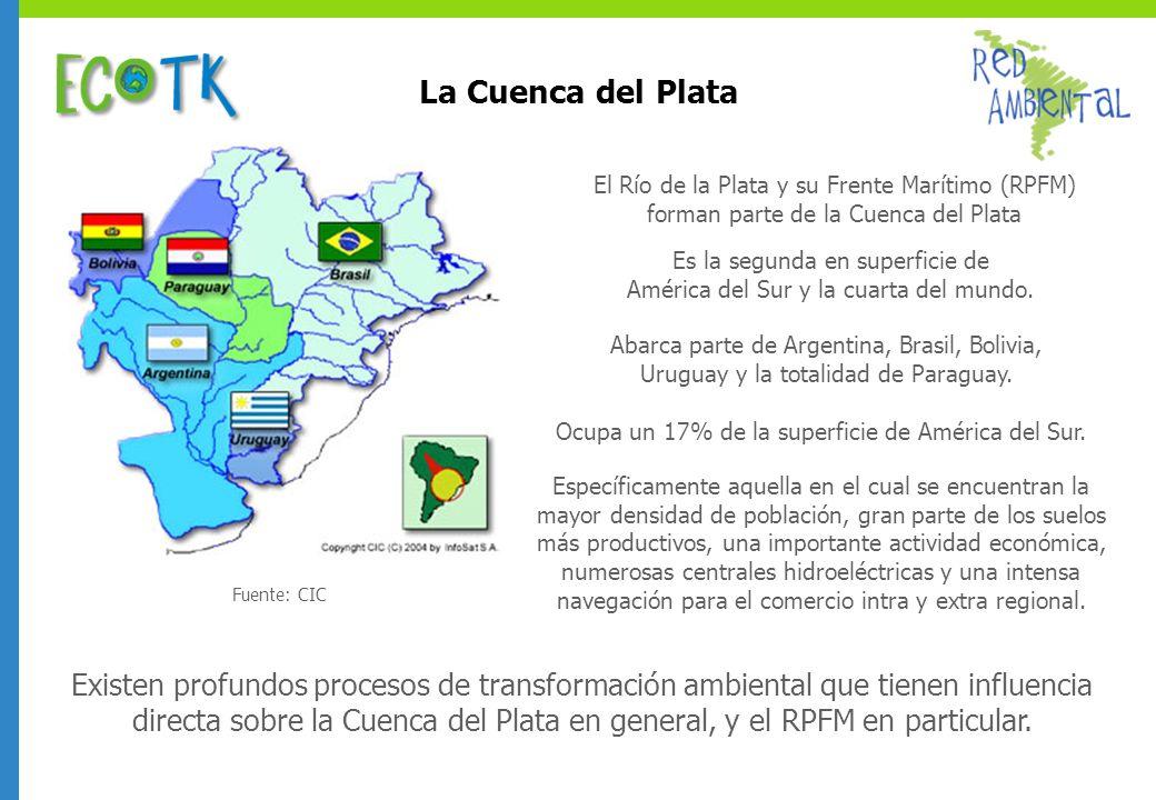 La Cuenca del Plata Es la segunda en superficie de América del Sur y la cuarta del mundo. Abarca parte de Argentina, Brasil, Bolivia, Uruguay y la tot