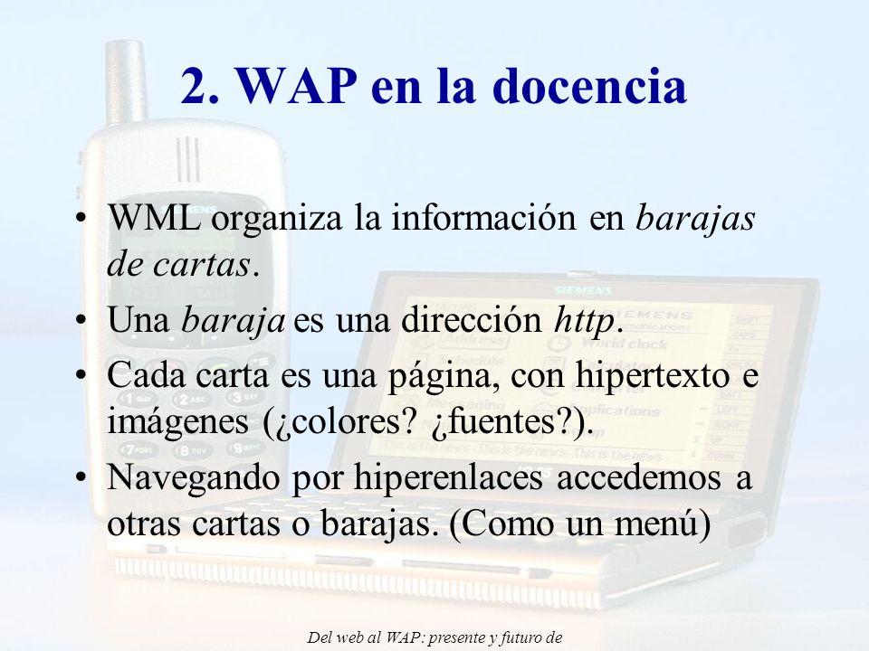 Del web al WAP: presente y futuro de la aplicación de Internet Móvil en la docencia - CONIED 02 2.
