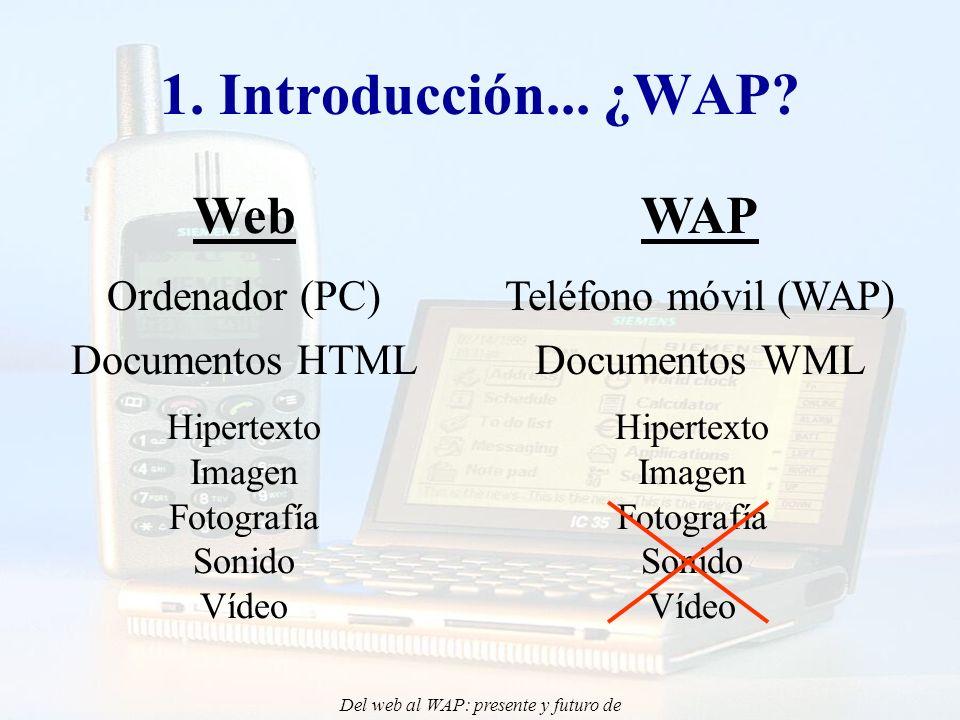 Del web al WAP: presente y futuro de la aplicación de Internet Móvil en la docencia - CONIED 02 5.