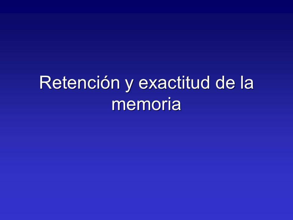 Retención y exactitud de la memoria