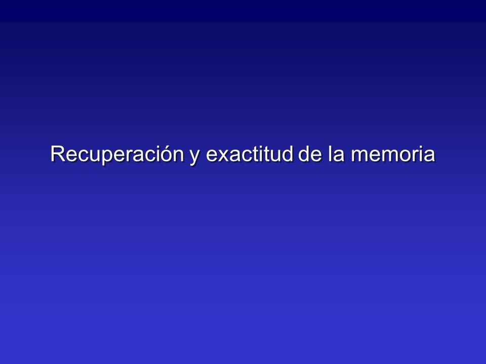 Recuperación y exactitud de la memoria