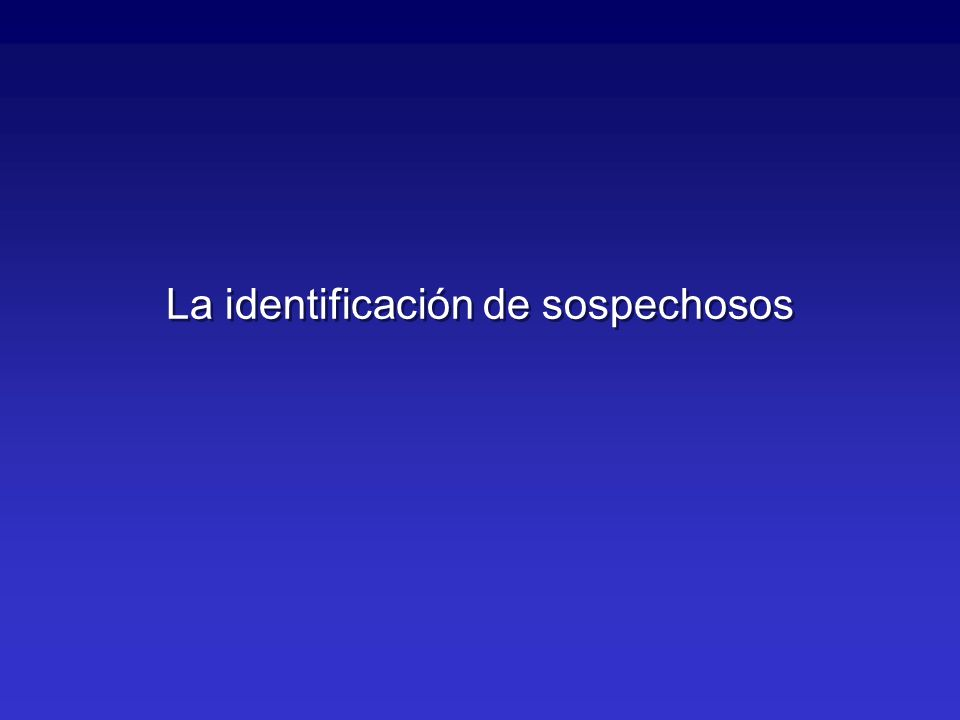 La identificación de sospechosos