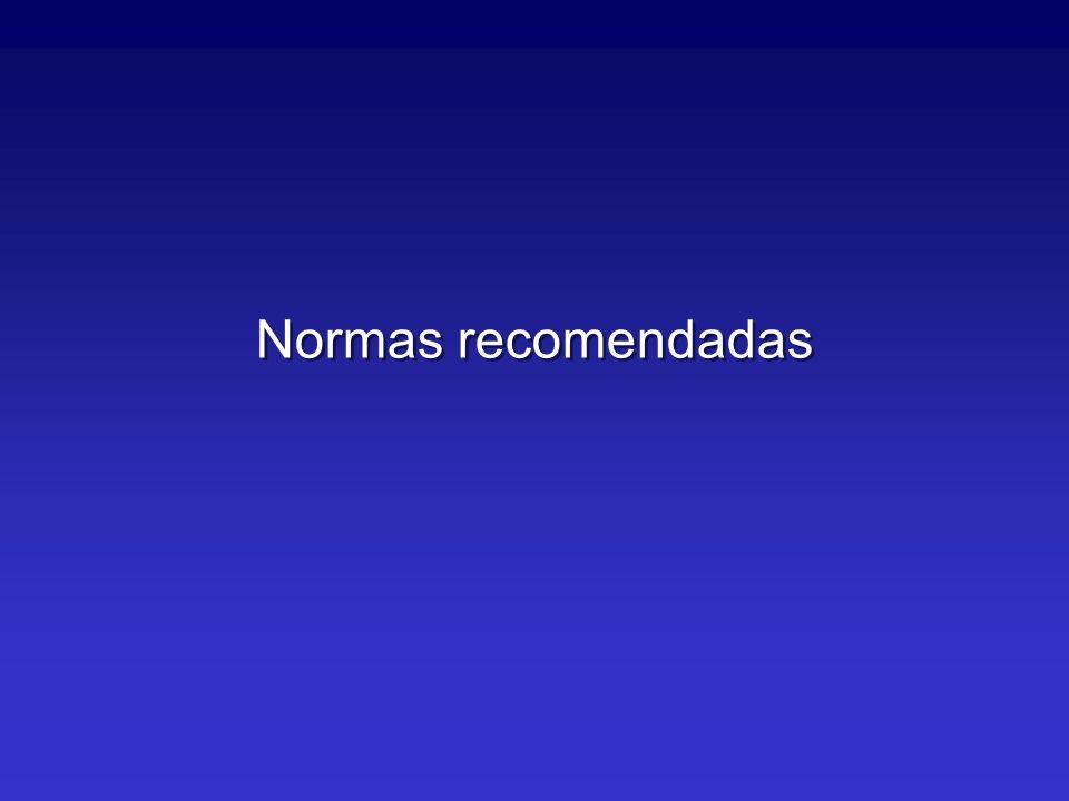 Normas recomendadas