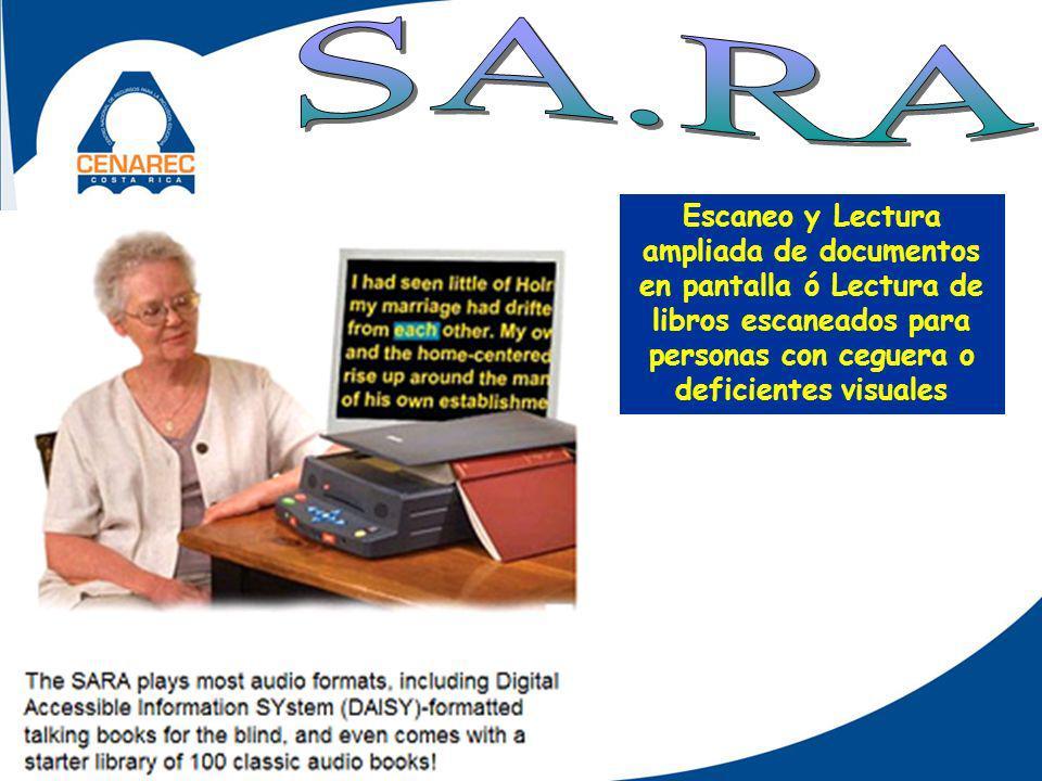 Escaneo y Lectura ampliada de documentos en pantalla ó Lectura de libros escaneados para personas con ceguera o deficientes visuales