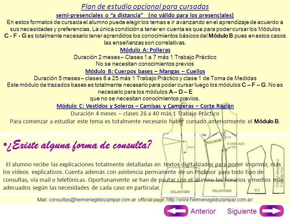 Mail: consultas@hermenegildozampar.com.ar official page: http://www.hermenegildozampar.com.ar/ ¿Cómo es el sistema de evaluación.