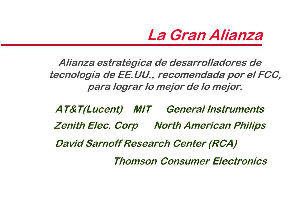 La Gran Alianza Alianza estratégica de desarrolladores de tecnología de EE.UU., recomendada por el FCC, para lograr lo mejor de lo mejor. AT&T(Lucent)