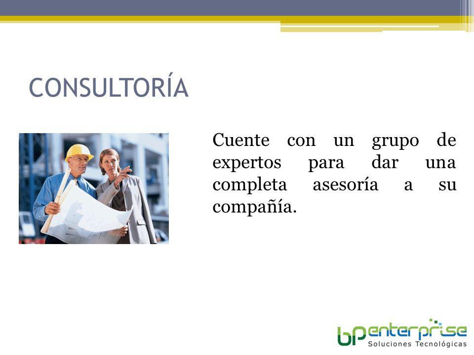 CONSULTORÍA Cuente con un grupo de expertos para dar una completa asesoría a su compañía.