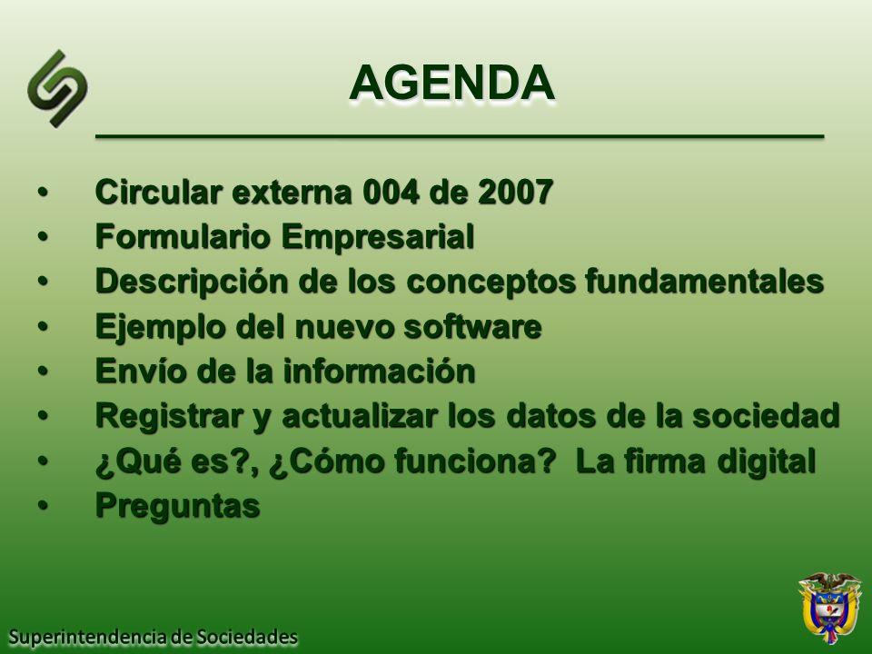 Circular externa 004 de 2007Circular externa 004 de 2007 Formulario EmpresarialFormulario Empresarial Descripción de los conceptos fundamentalesDescri