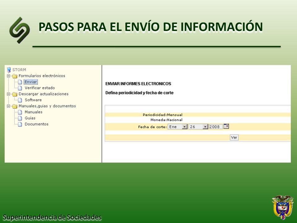 PASOS PARA EL ENVÍO DE INFORMACIÓN