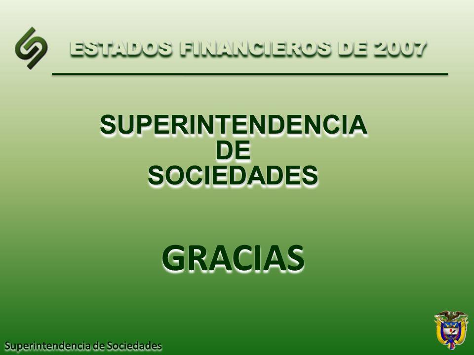 SUPERINTENDENCIADESOCIEDADESSUPERINTENDENCIADESOCIEDADES ESTADOS FINANCIEROS DE 2007 GRACIAS