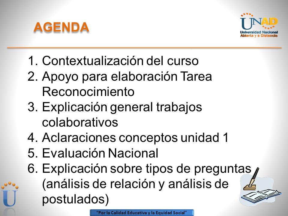 Por la Calidad Educativa y la Equidad Social 1.Contextualización del curso MATERIAL DIDÁCTICO - DISEÑADO POR: LIZ GIOMAIRA MONTENEGRO LOSADA - CEAD NEIVA Diciembre de 2007 MÓDULO Y PROTOCOLO ACTUALIZADO POR: MABEL GORETTY CHALA TRUJILLO - CEAD NEIVA Julio de 2009 DISEÑO MATERIAL 100% NUEVO ACORDE CON LINEAMIENTOS DEL OBSERVATORIO: MABEL GORETTY CHALA TRUJILLO - CCAV NEIVA Diciembre de 2011 – Se ofertó en prueba piloto 2012 1i y 2012 2i Con aprobación: 2013 A Nuevas guías: 2013 B
