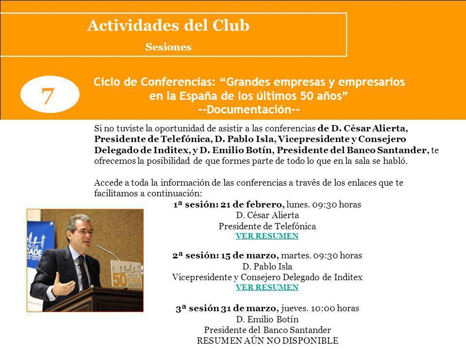 Agenda Cultural/Eventos recomendados www.clubcomillaspostgrado.com 2 Feria: SITI/asLAN2011 (5,6 y 7 de abril) Ahora más que nunca, la tecnología debe jugar un papel fundamental en la mejora de la productividad y competitividad de todos los sectores de la economía.