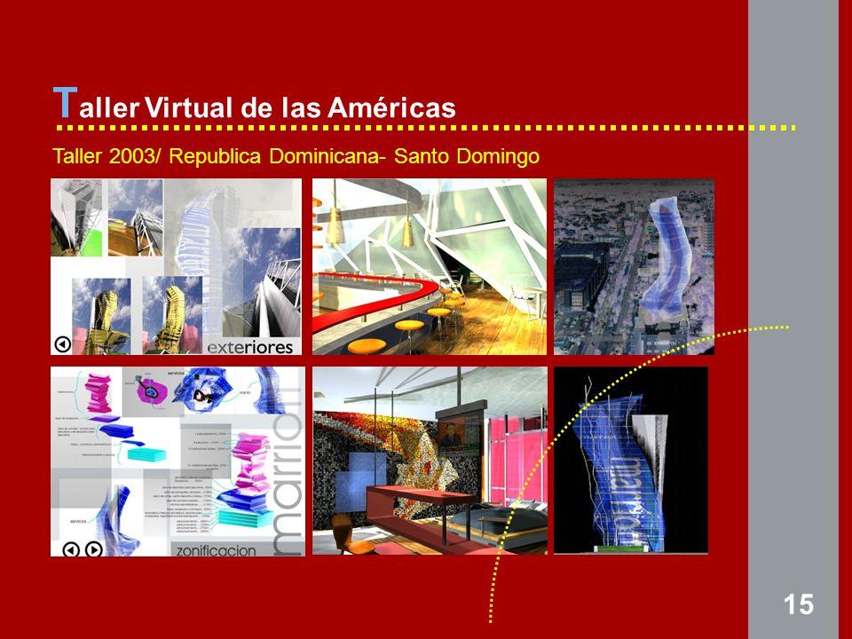 15 T aller Virtual de las Américas Taller 2003/ Republica Dominicana- Santo Domingo