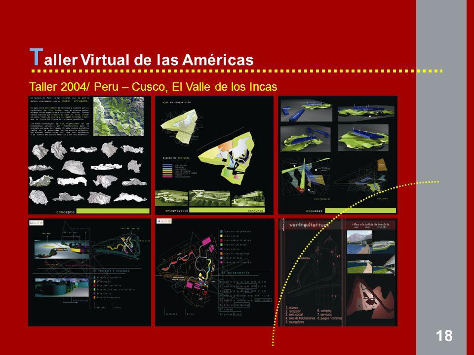 18 T aller Virtual de las Américas Taller 2004/ Peru – Cusco, El Valle de los Incas