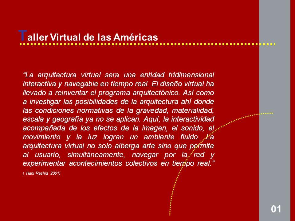 La arquitectura virtual sera una entidad tridimensional interactiva y navegable en tiempo real.
