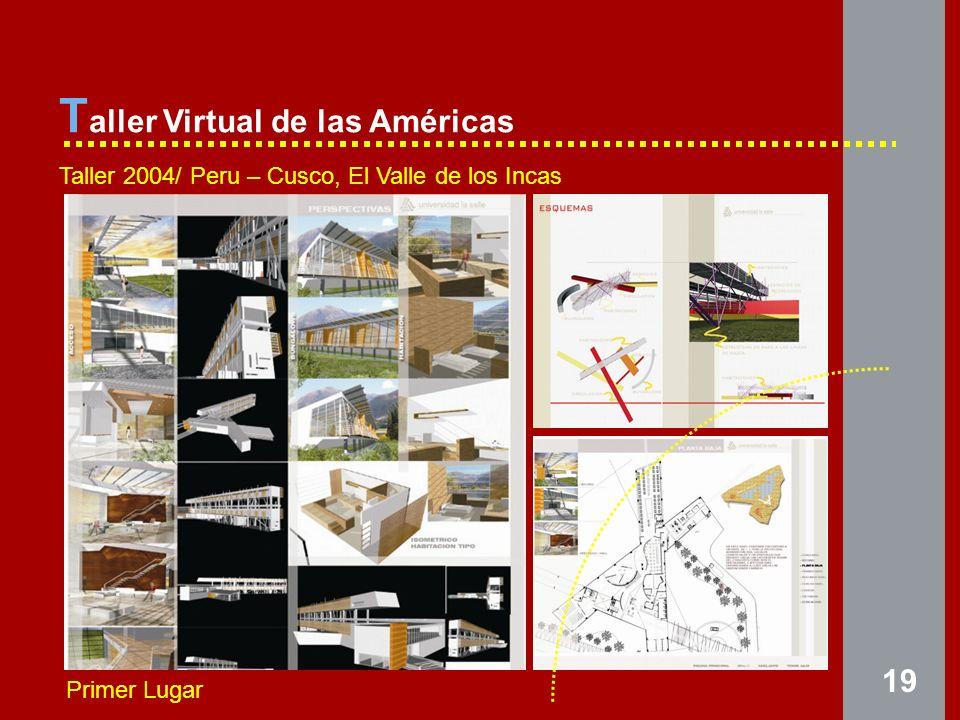 19 T aller Virtual de las Américas Taller 2004/ Peru – Cusco, El Valle de los Incas Primer Lugar