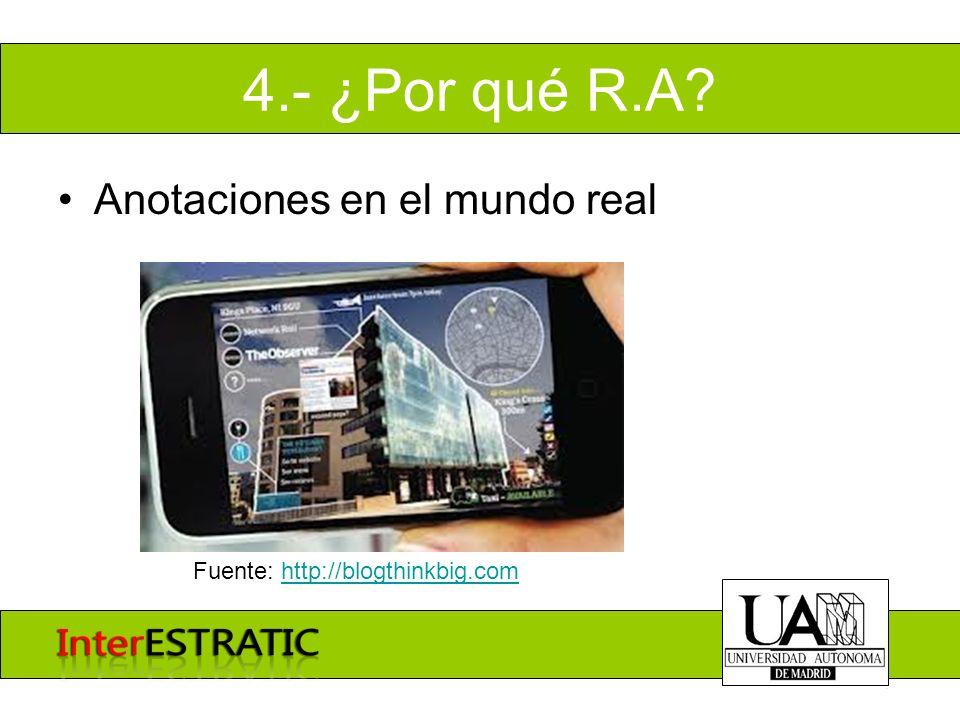4.- ¿Por qué R.A.