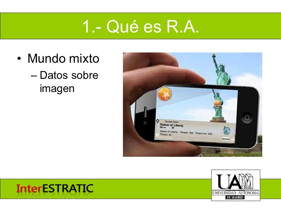1.- Qué es R.A. Mundo mixto –Datos sobre imagen