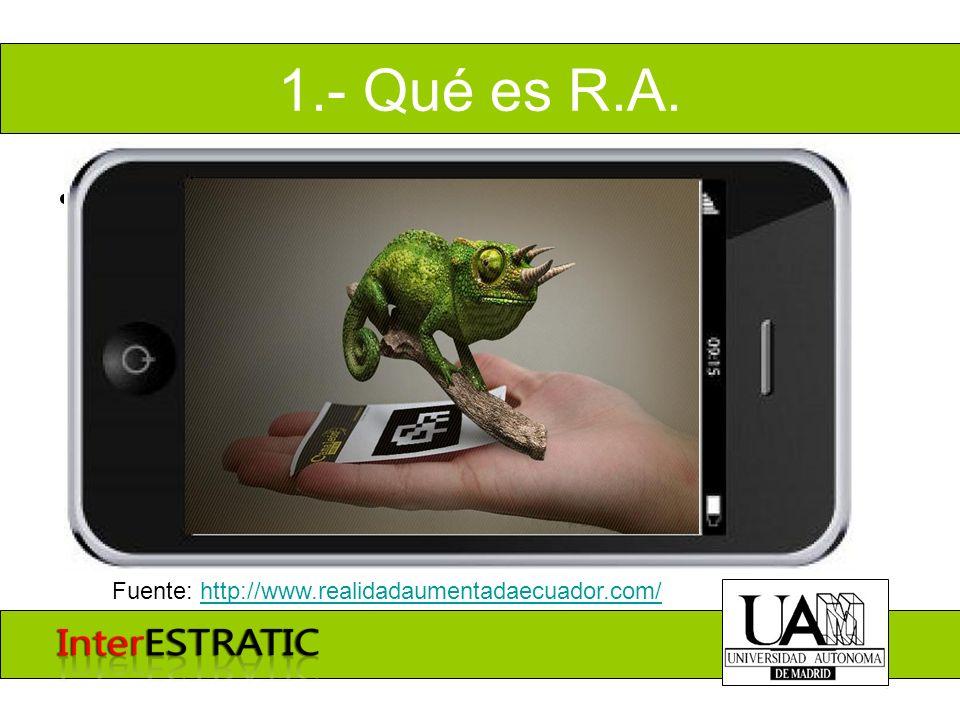 1.- Qué es R.A. Mundo mixto Fuente: http://www.realidadaumentadaecuador.com/http://www.realidadaumentadaecuador.com/