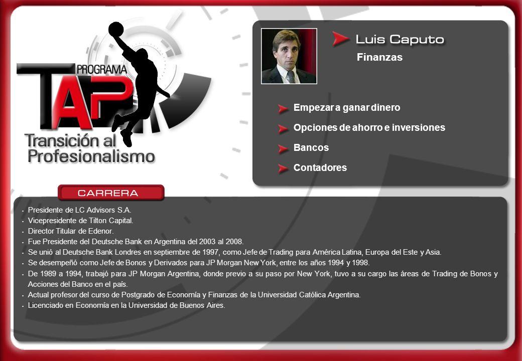 Marketing y básquetbol 2001.Licenciado en Marketing / Comercialización – UNIVERSIDAD C.A.E.C.E.