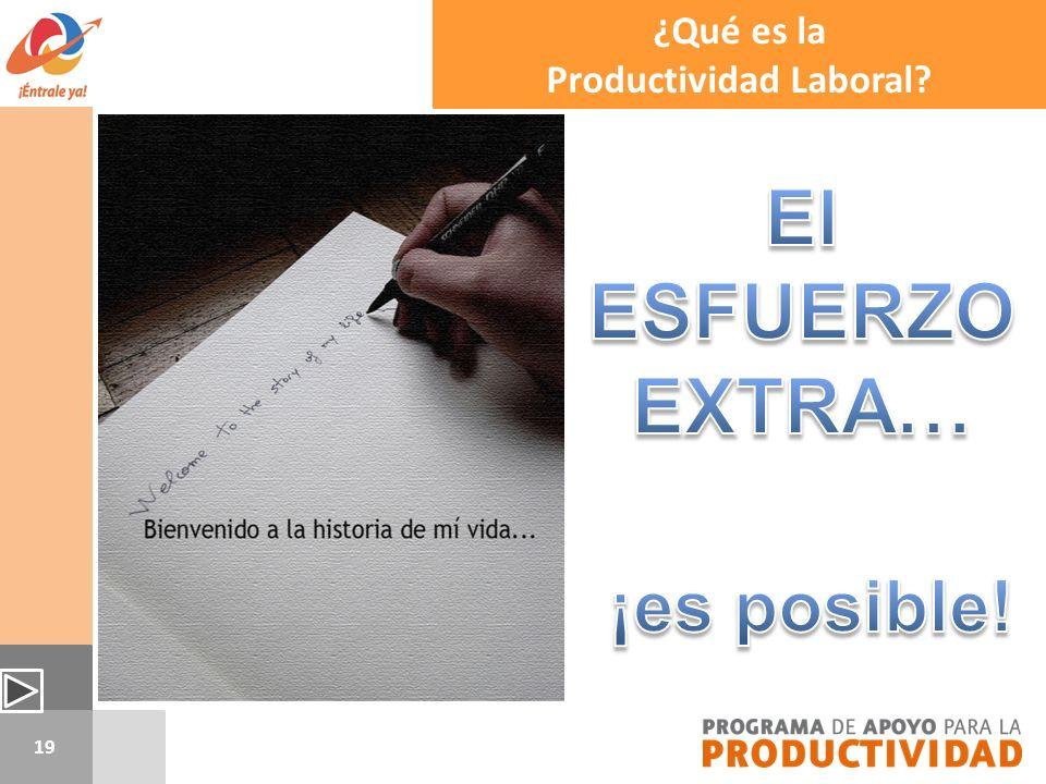 19 ¿Qué es la Productividad Laboral?