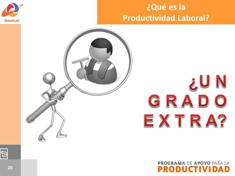 20 ¿Qué es la Productividad Laboral?