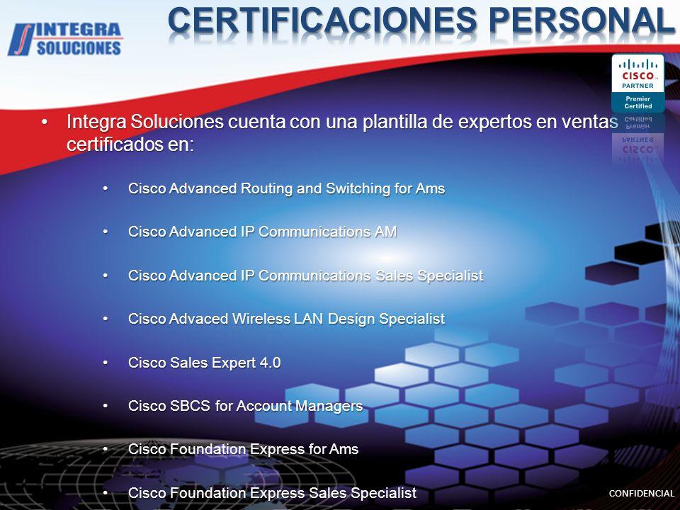 Integra Soluciones cuenta con una plantilla de expertos en ventas certificados en:Integra Soluciones cuenta con una plantilla de expertos en ventas ce