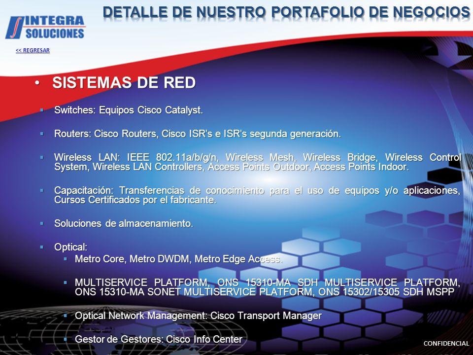 SISTEMAS DE RED Switches: Equipos Cisco Catalyst. Switches: Equipos Cisco Catalyst. Routers: Cisco Routers, Cisco ISRs e ISRs segunda generación. Rout