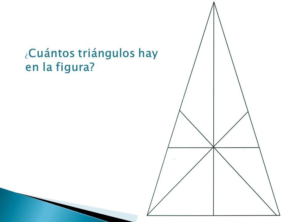 ¿ Cuántos triángulos hay en la figura?
