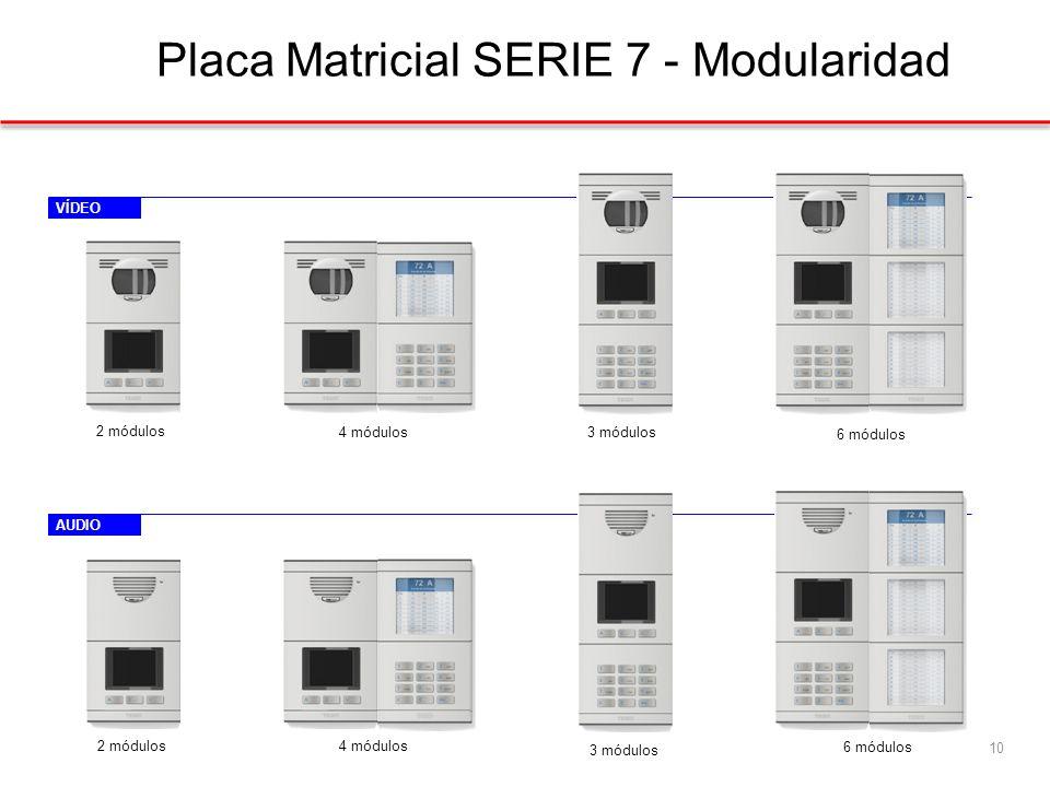 VÍDEOAUDIO Placa Matricial SERIE 7 - Modularidad 10 2 módulos 4 módulos3 módulos 6 módulos 2 módulos 4 módulos 3 módulos 6 módulos