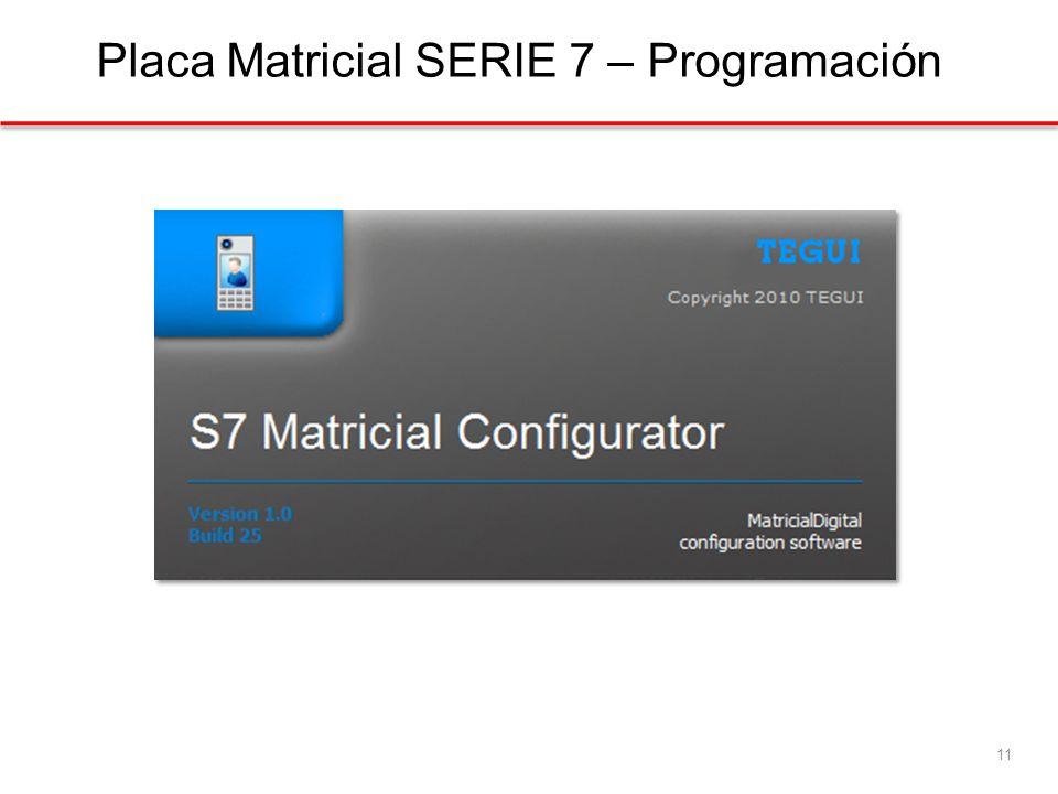 Placa Matricial SERIE 7 – Programación 11