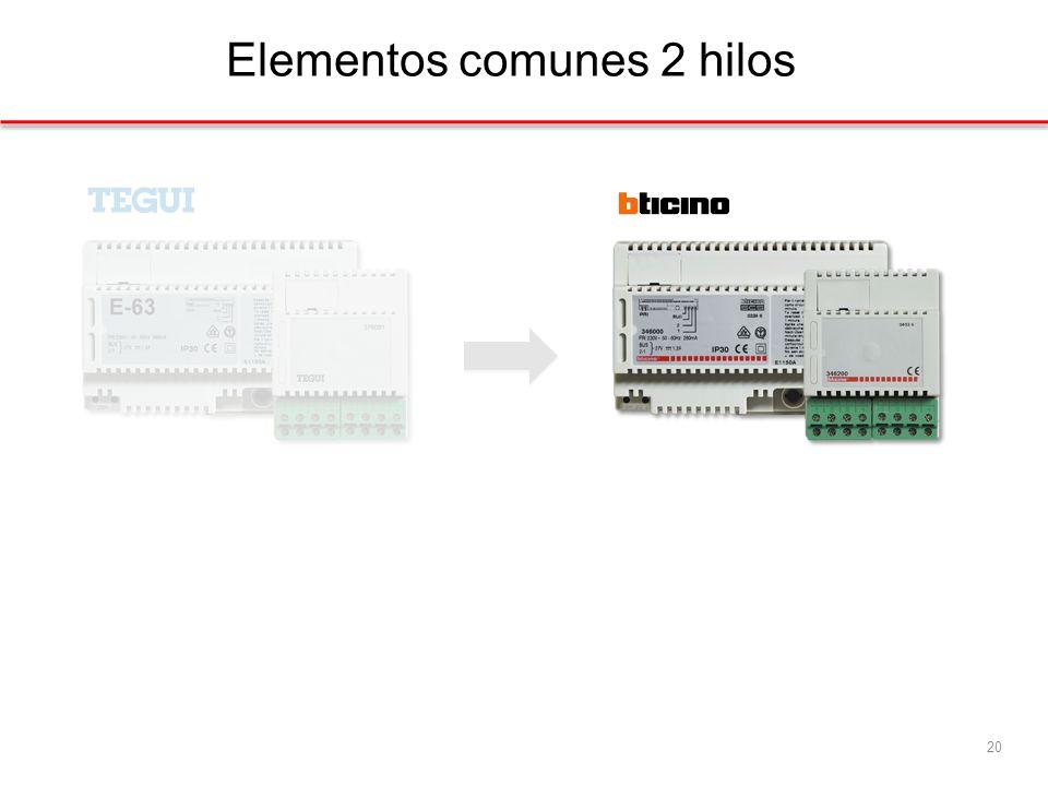 Elementos comunes 2 hilos 20
