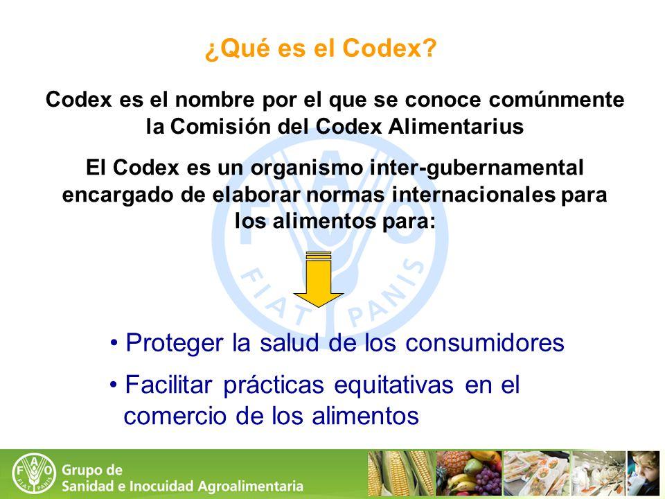 ¿Qué es el Codex? Codex es el nombre por el que se conoce comúnmente la Comisión del Codex Alimentarius El Codex es un organismo inter-gubernamental e