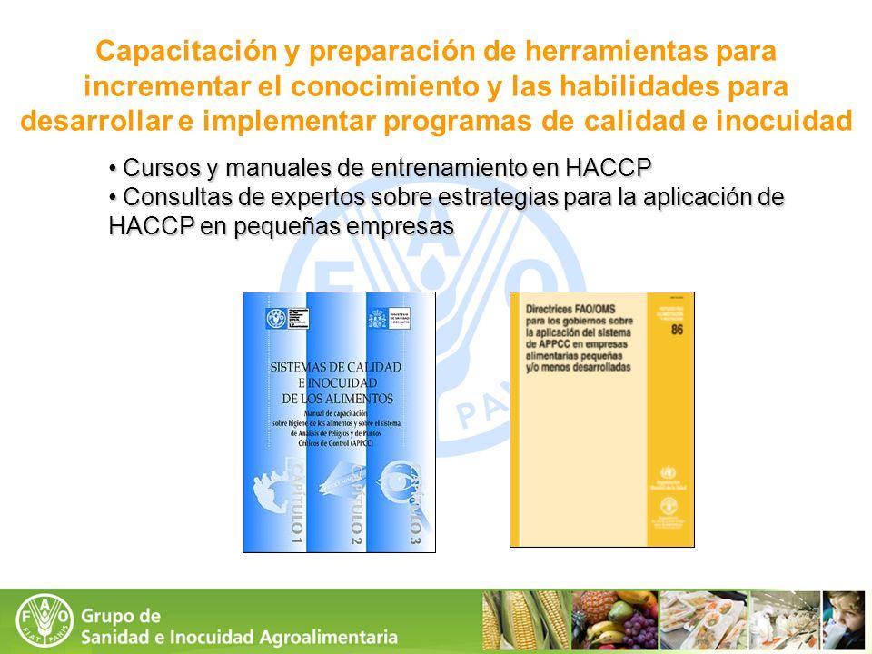 Cursos y manuales de entrenamiento en HACCP Cursos y manuales de entrenamiento en HACCP Consultas de expertos sobre estrategias para la aplicación de