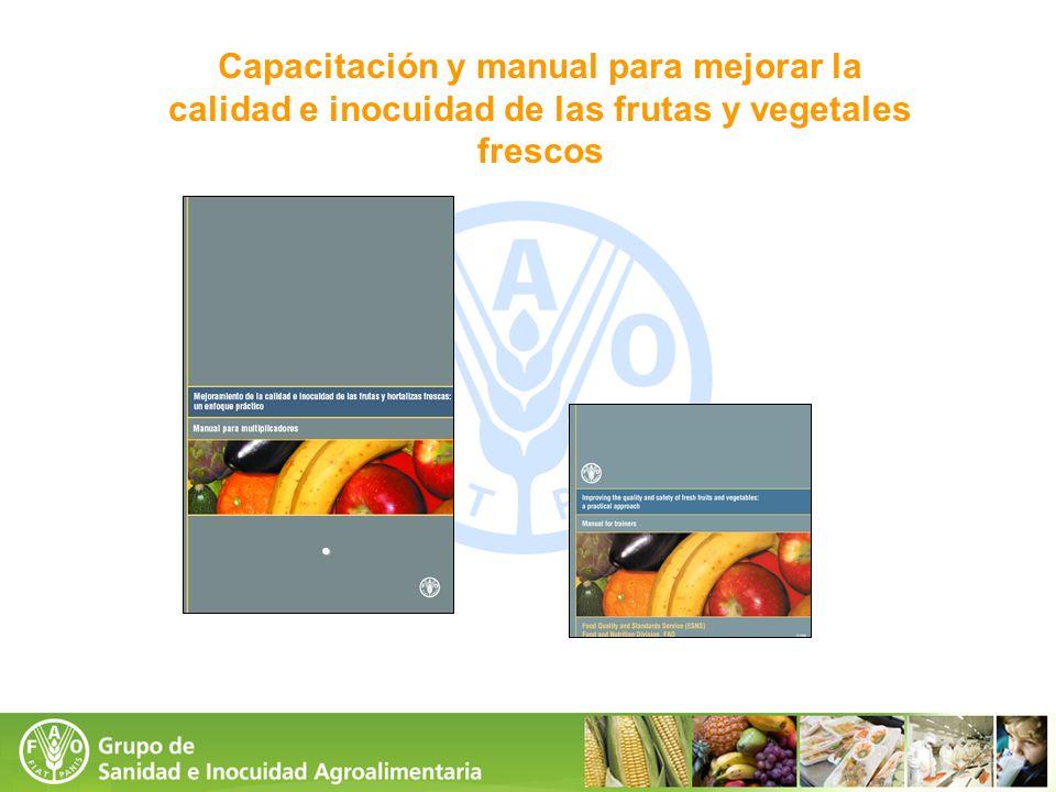 Capacitación y manual para mejorar la calidad e inocuidad de las frutas y vegetales frescos