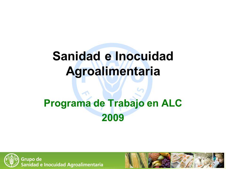 Sanidad e Inocuidad Agroalimentaria Programa de Trabajo en ALC 2009