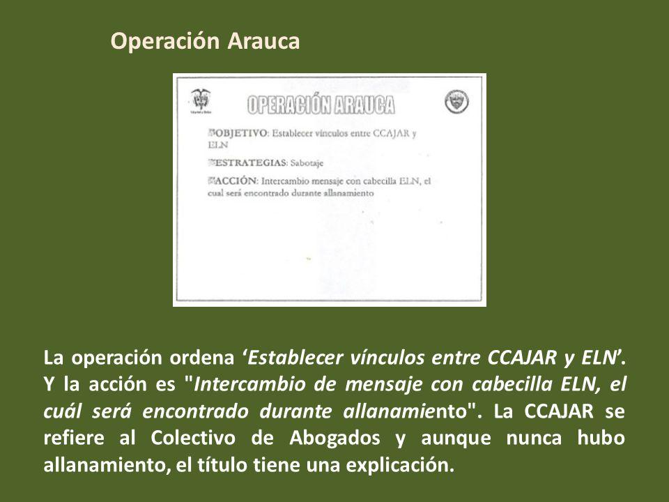 La operación Transmilenio ordena neutralizar las acciones de ONGs en Colombia y el mundo.