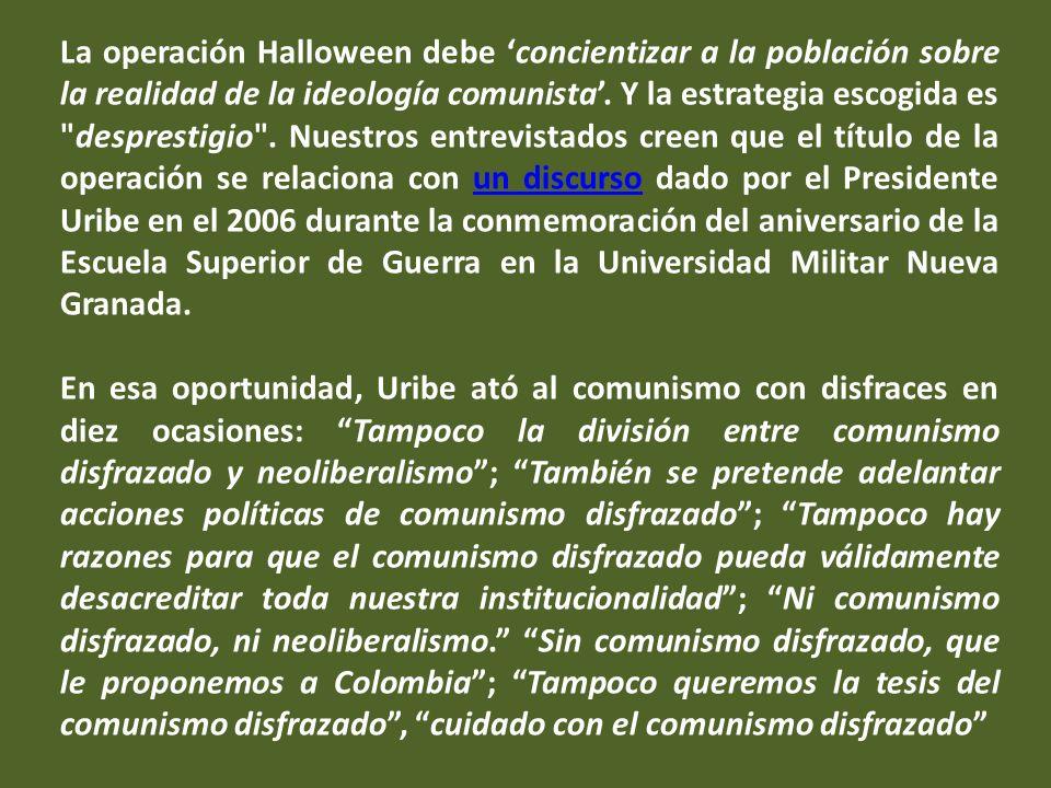 En el 2005, en una página web fantasma - que ya no puede consultase - se publicó un comunicado en el que se decía que el abogado del Colectivo Eduardo Carreño se encontraba con el ELN en Arauca, izando la bandera de Venezuela junto con otros dos defensores de derechos humanos.