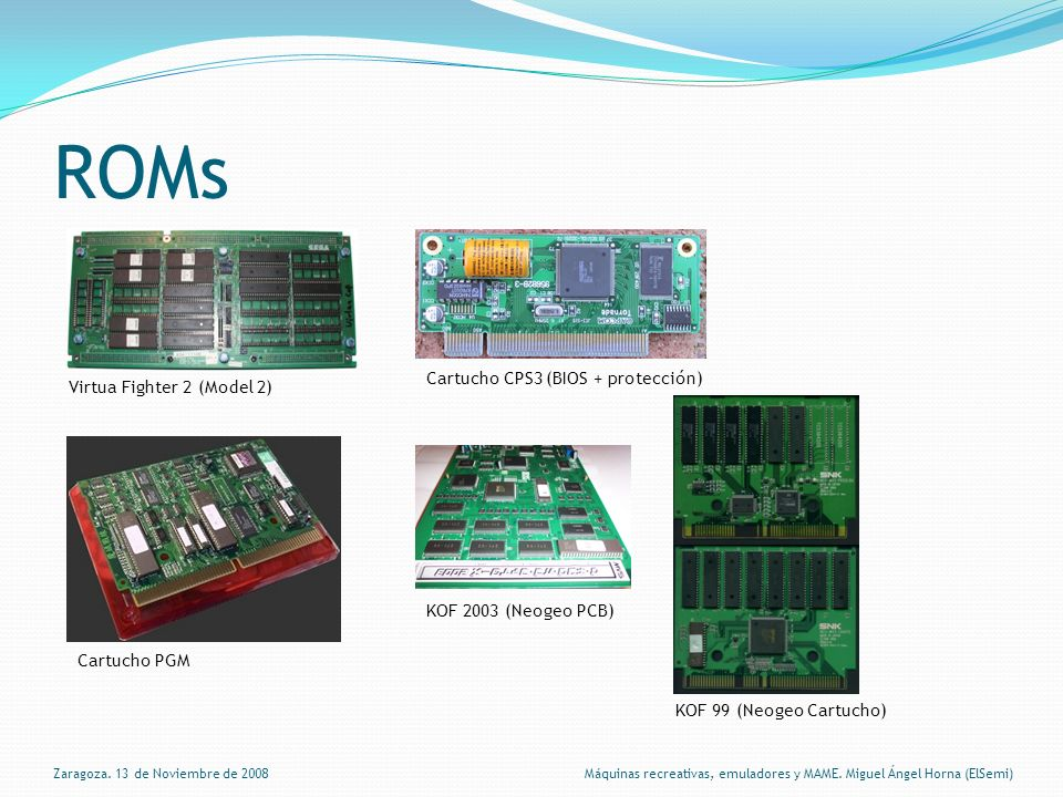 ROMs Virtua Fighter 2 (Model 2) Cartucho CPS3 (BIOS + protección) Cartucho PGM KOF 2003 (Neogeo PCB) KOF 99 (Neogeo Cartucho) Zaragoza.