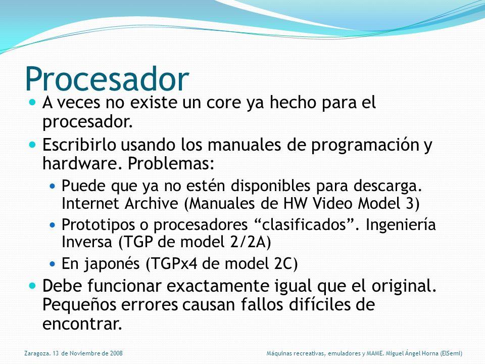Procesador A veces no existe un core ya hecho para el procesador.