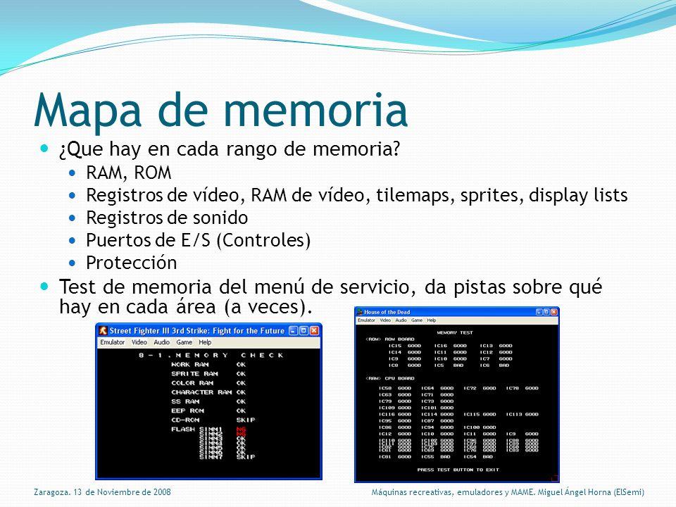 Mapa de memoria ¿Que hay en cada rango de memoria.
