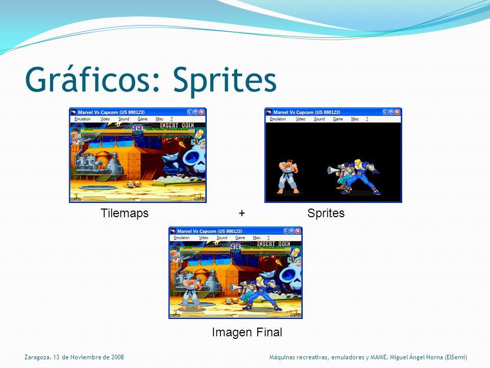 Gráficos: Sprites Zaragoza.13 de Noviembre de 2008 Máquinas recreativas, emuladores y MAME.